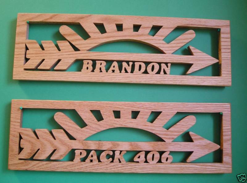arrow of light personalized cub scouts boy scouts ebay. Black Bedroom Furniture Sets. Home Design Ideas