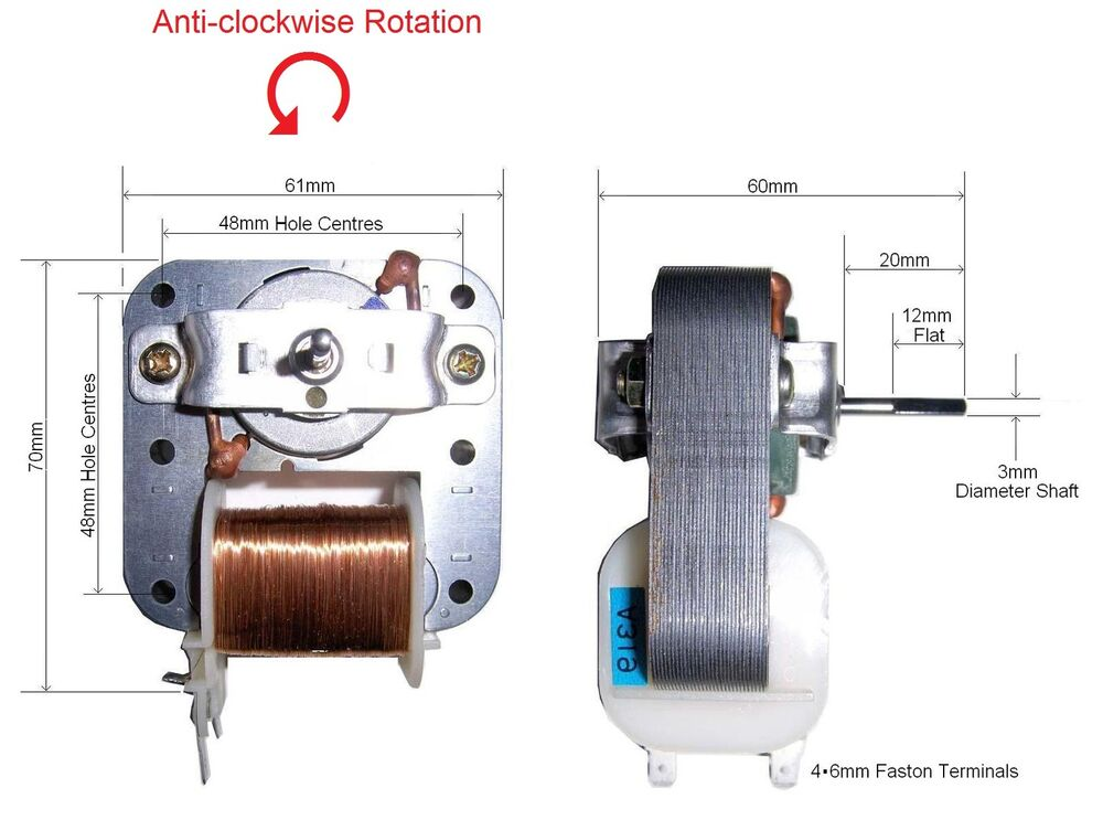 Shaded pole motor 220v 240v with flat on shaft for fan ebay for What is a shaded pole motor