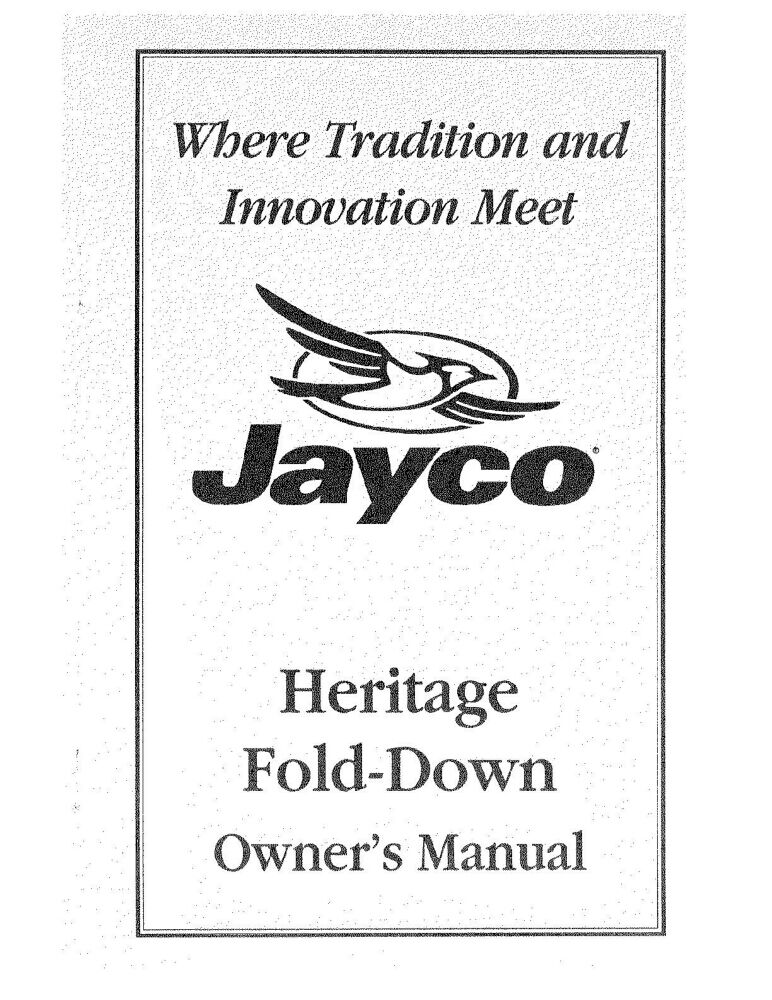Jayco 1406 Owners Manual on