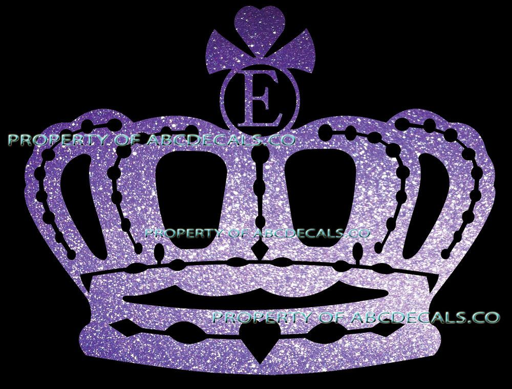 Vrs Crown Queen King Princess Twilight Initial E Car Decal