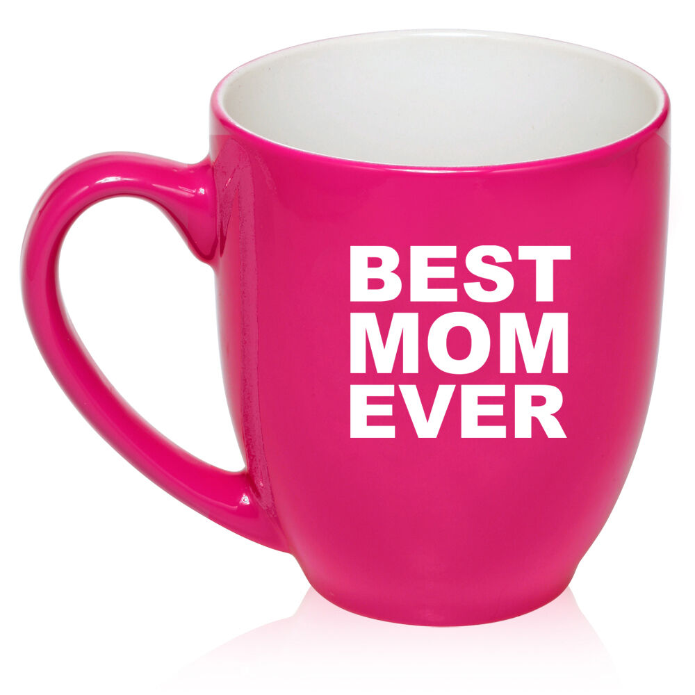 16oz bistro mug ceramic coffee tea glass cup best mom ever Best coffee cups ever