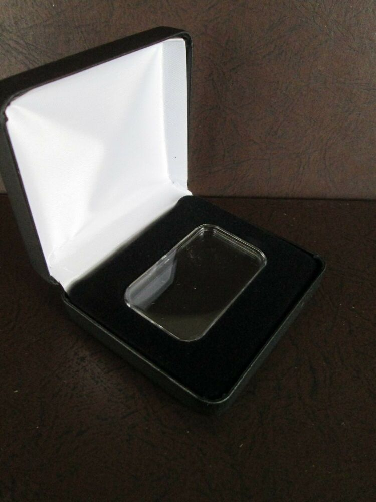 1 Black Lsb Leatherette Display Case For A 1oz Direct Fit