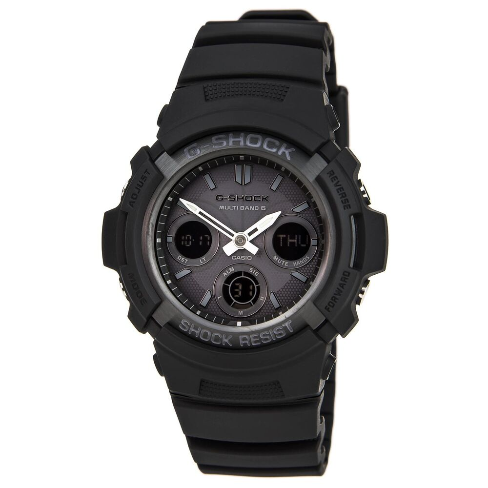 Casio Awgm100b 1a Men S G Shock Black Resin Tough Solar