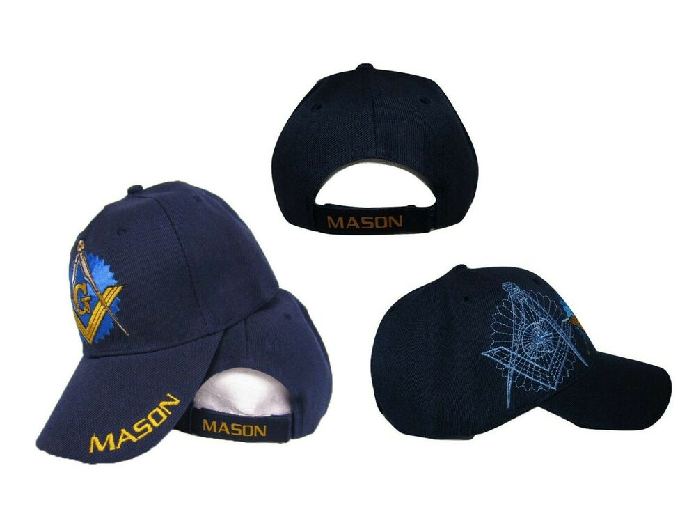 af913f88a88 Details about Blue Mason Freemason Masonic Lodge Shadow Hat Ball Cap  Embroidered
