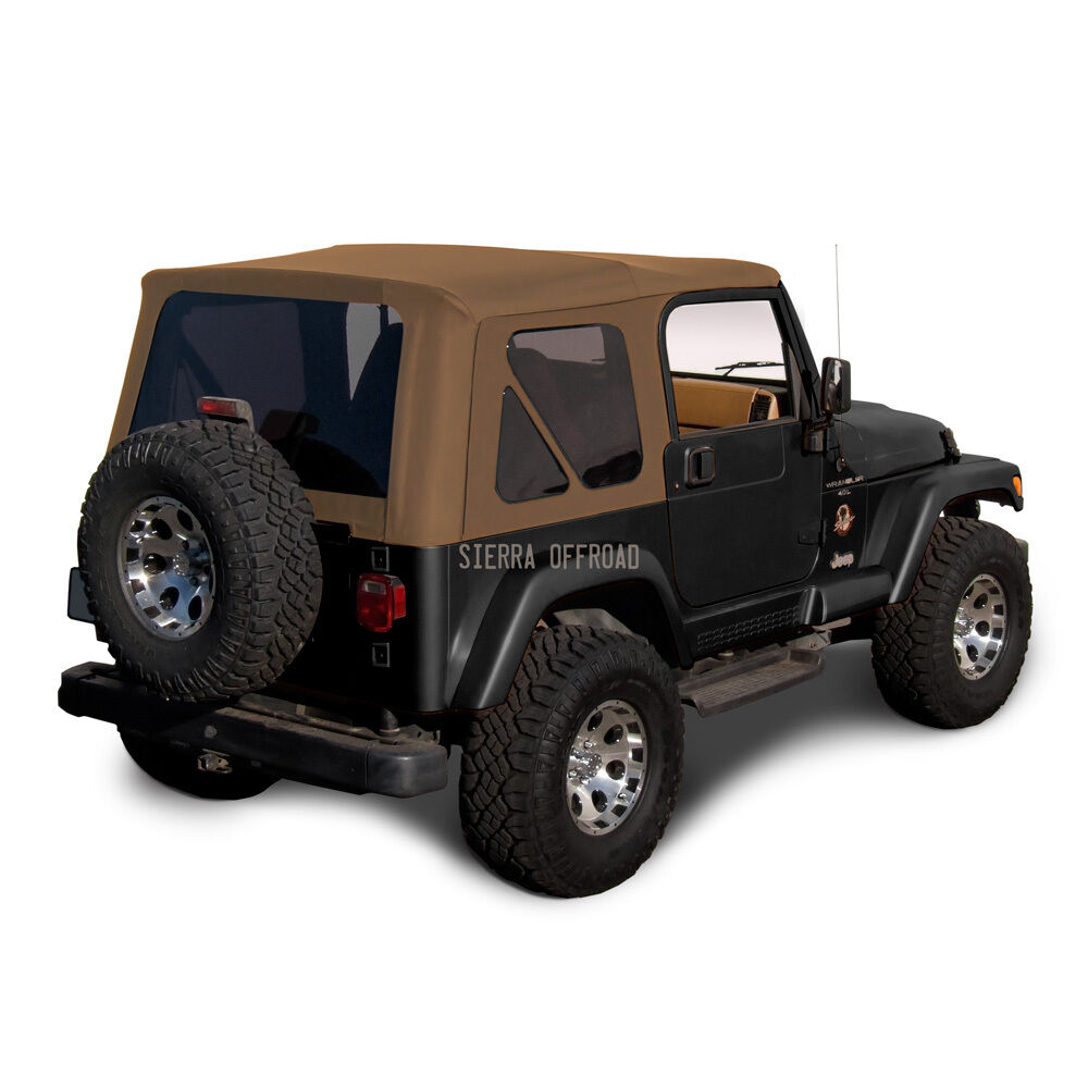 jeep wrangler tj soft top 1997 2002 tinted windows spice ebay. Black Bedroom Furniture Sets. Home Design Ideas