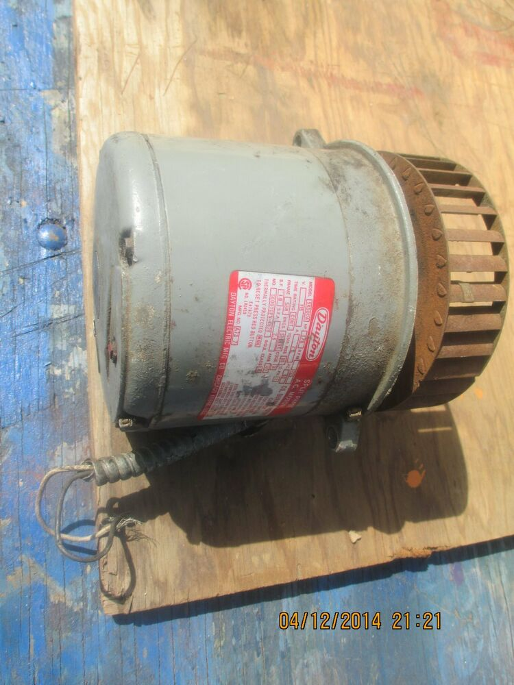 Dayton electric motor 1 8 hp split phase 1725 rpm ebay Ac motor 1 hp