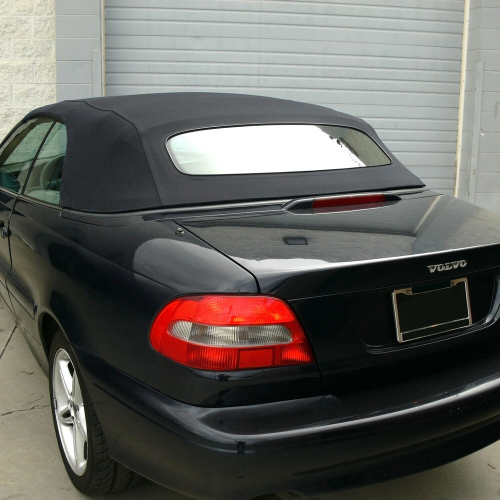 Sunroof Glass Replacement >> Volvo C70 Convertible Top for 1999-2006 in Black Stayfast with Glass Window | eBay