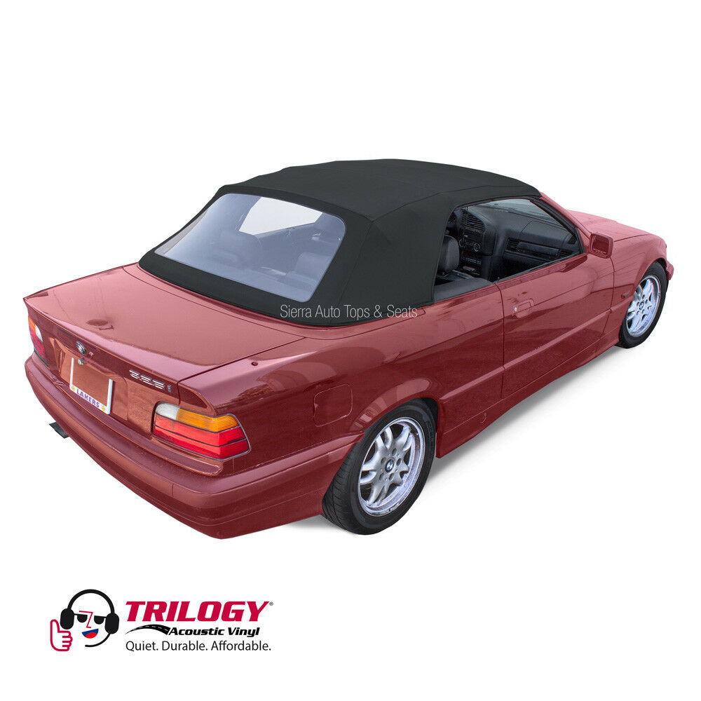 Fits: 1994-1999 BMW 3-Series E36, Convertible Top, Black