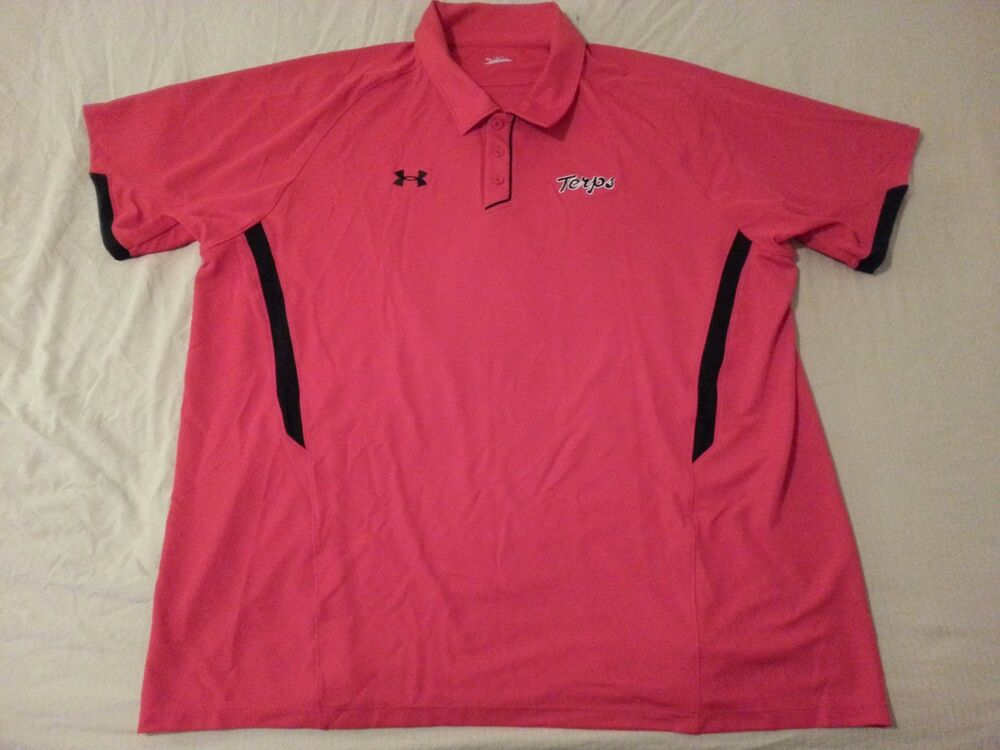 Mens under armour maryland terrapins polo shirt 3xl red for Under armour 3xl polo shirts