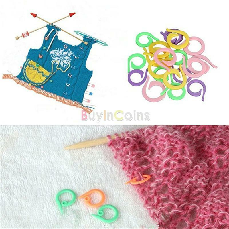 Knitting Using Stitch Holder : 20Pcs Cute Knitting Crochet Craft Locking Stitch Markers Holder Needle Clip ...