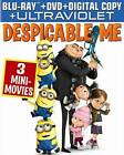 DESPICABLE ME BLURAY W/3 MINNIE MOVIES, BRAND NEW, SEALED free shipping!!!