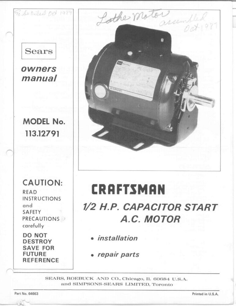 What Is A Capacitor Start Capacitor Run Motor Manual Guide
