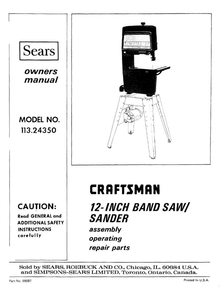 Craftsman repair manual 917288140
