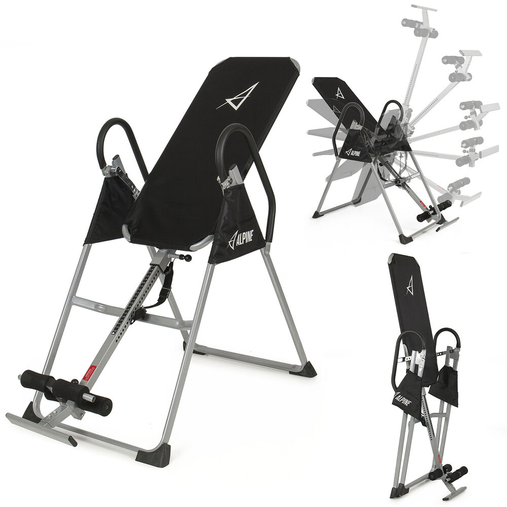 Inversion table pro deluxe fitness chiropractic table for Exercice table