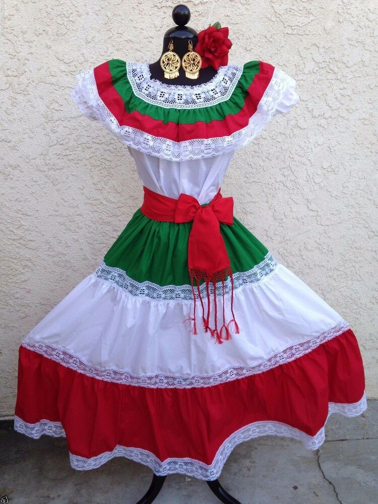Cool Mexican Fiesta Dresses Women Mexican Embroidered Dress