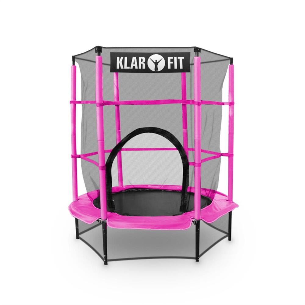 PINK 4.5 FT TRAMPOLINE JUMPING SPRING COVER CHILDRENS