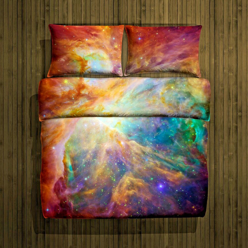 3d Single Double King Size Galaxy Duvet Cover Bedding