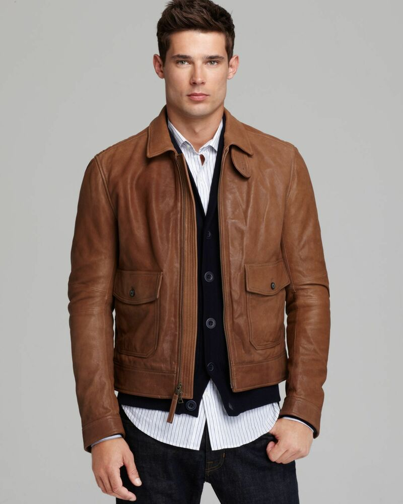 Vince camel leather jacket – Modern fashion jacket photo blog