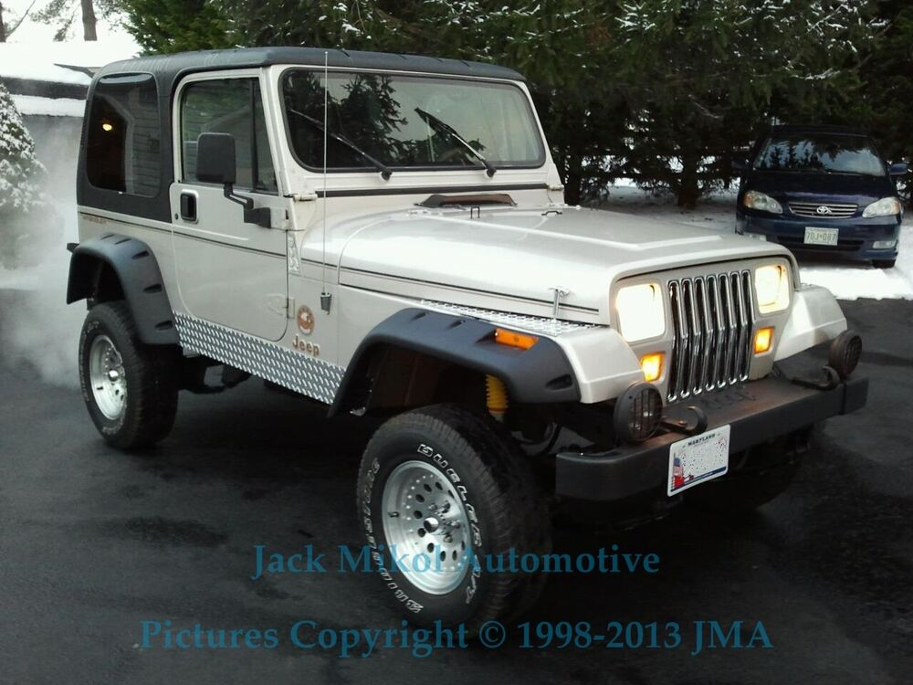 "Black 6"" Wide Pocket Style Fender Flares 1987-1995 Jeep ..."