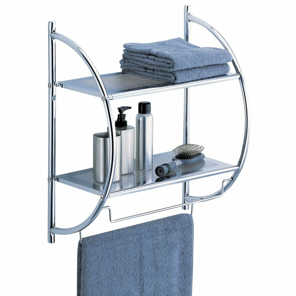 Bathroom Over Toilet Rack : Towel rack bathroom shelf organizer wall mounted storage