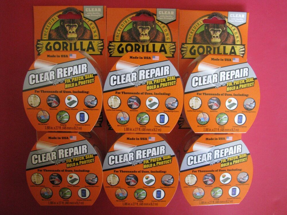 6 Gorilla Tape Vinyl Patch Inflatable Underwater Wet Dry