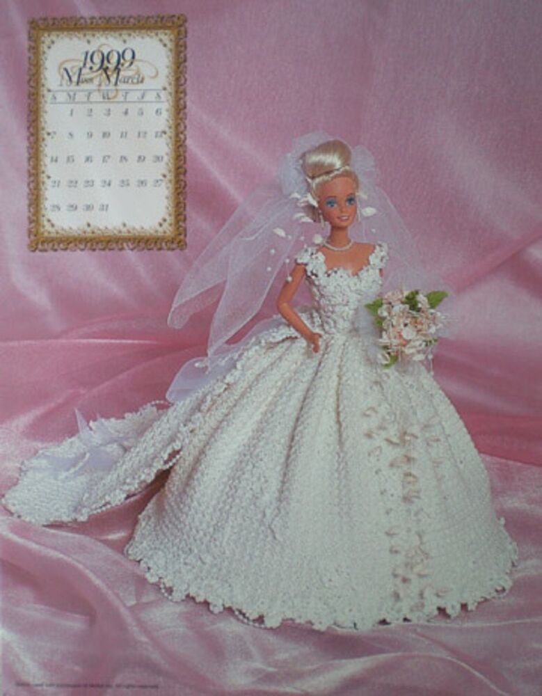 Annies Attic Patterns : Annies Attic 1999 Bridal Dreams Barbie Fashion March Crochet Bed Doll ...