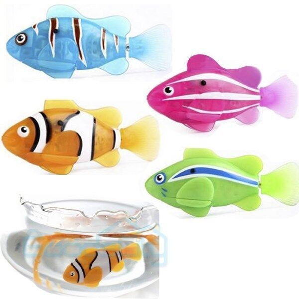 4pcs swimming robot fish activated in water magical for Robot fish toy