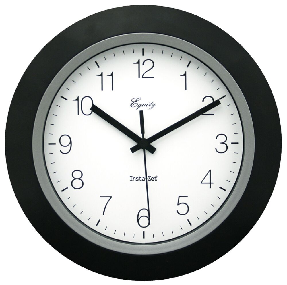 "40222B Equity by La Crosse Insta-Set 10"" Analog Wall Clock ..."
