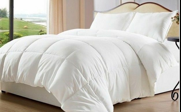 White Goose Down Alternative Comforter Duvet Cover Insert