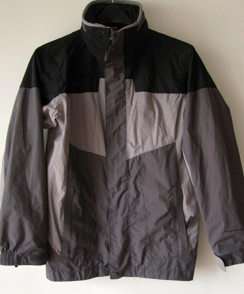 Columbia Youth Winter Coat 14/16 Gray Black Jacket