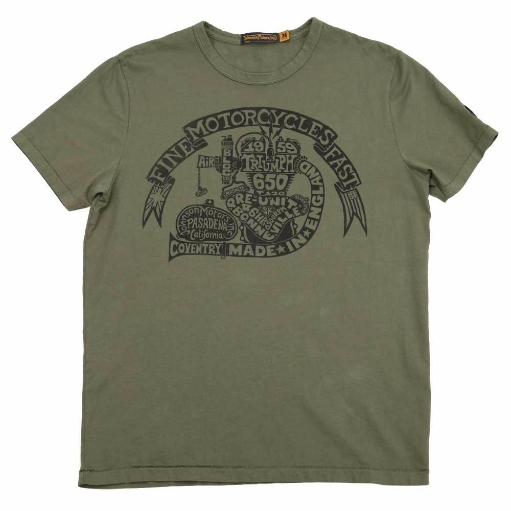 New triumph johnson motors 1959 engine t shirt mens tee for Mens t shirts free shipping
