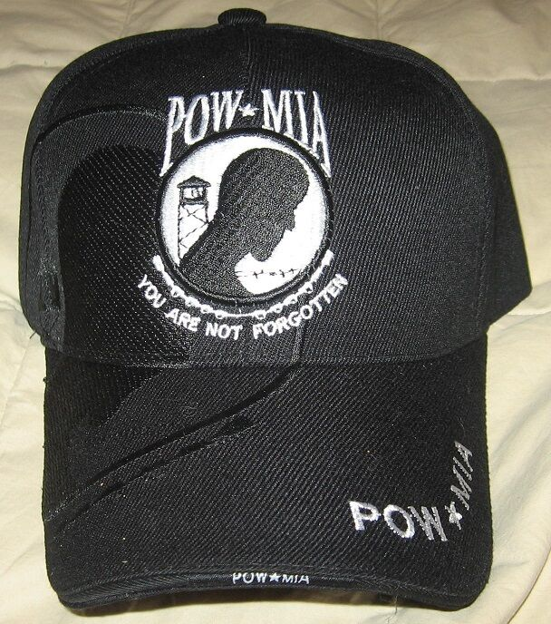 d291 pow mia hat one size fits all adjustable embroidered cap 100 cotton ebay - Pow Mia Hat