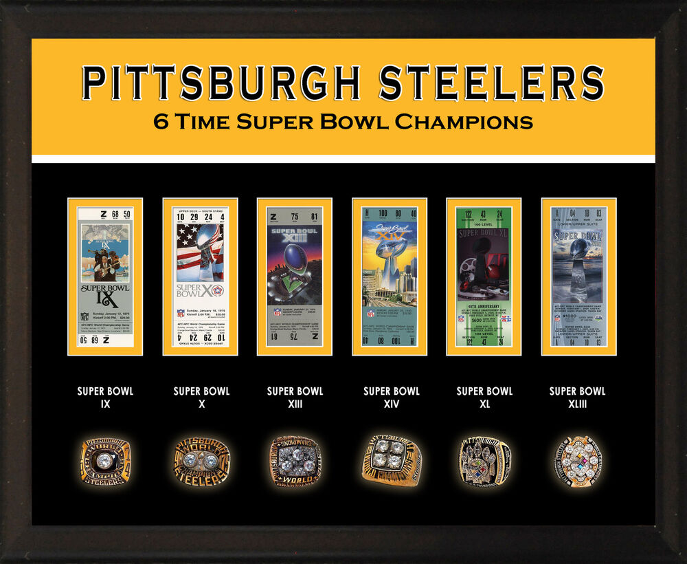 8x10 Quot Photo Plaque Pittsburgh Steelers 6 Super Bowl