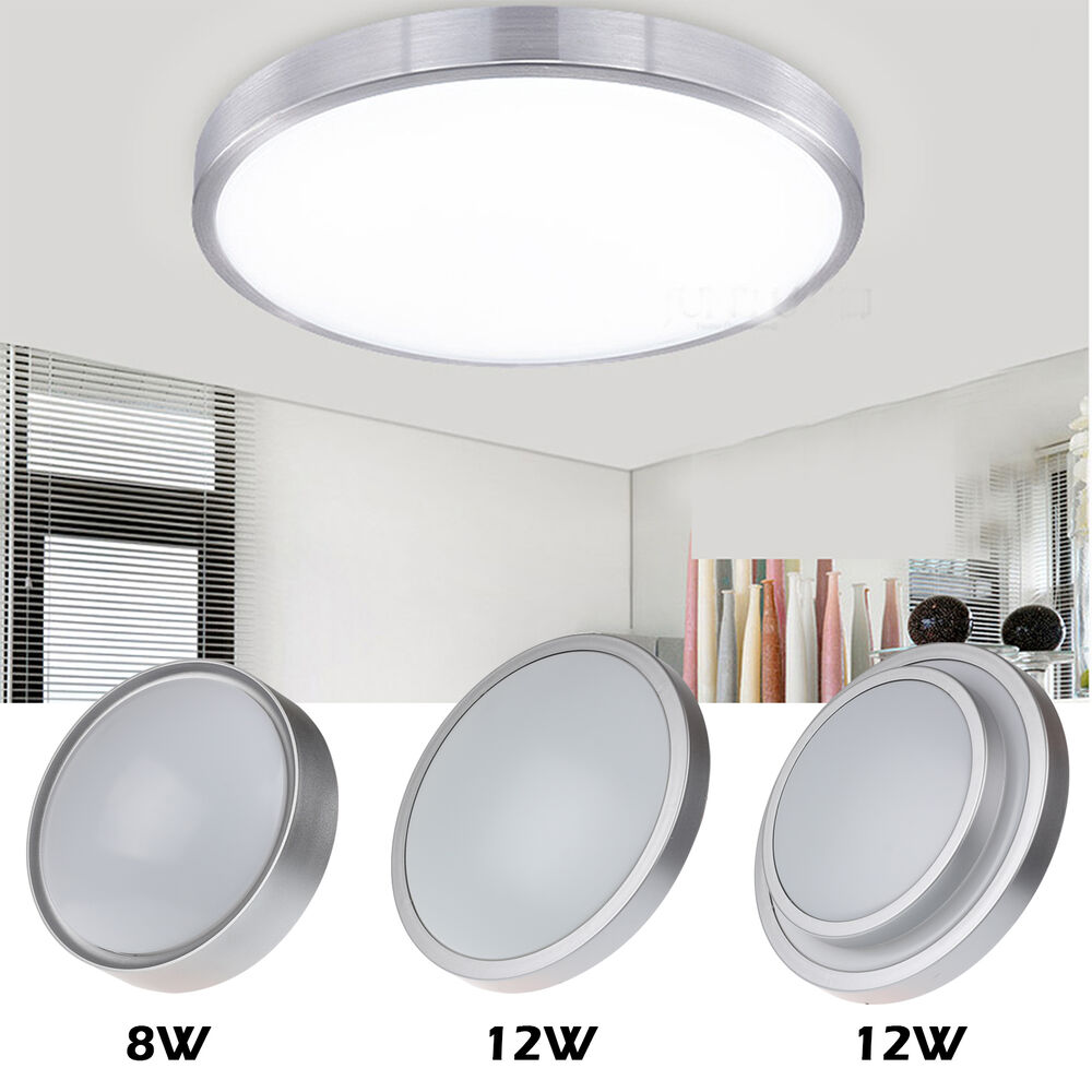 Bright 8W 12W LED Flush Mounted Ceiling Down Panel Light