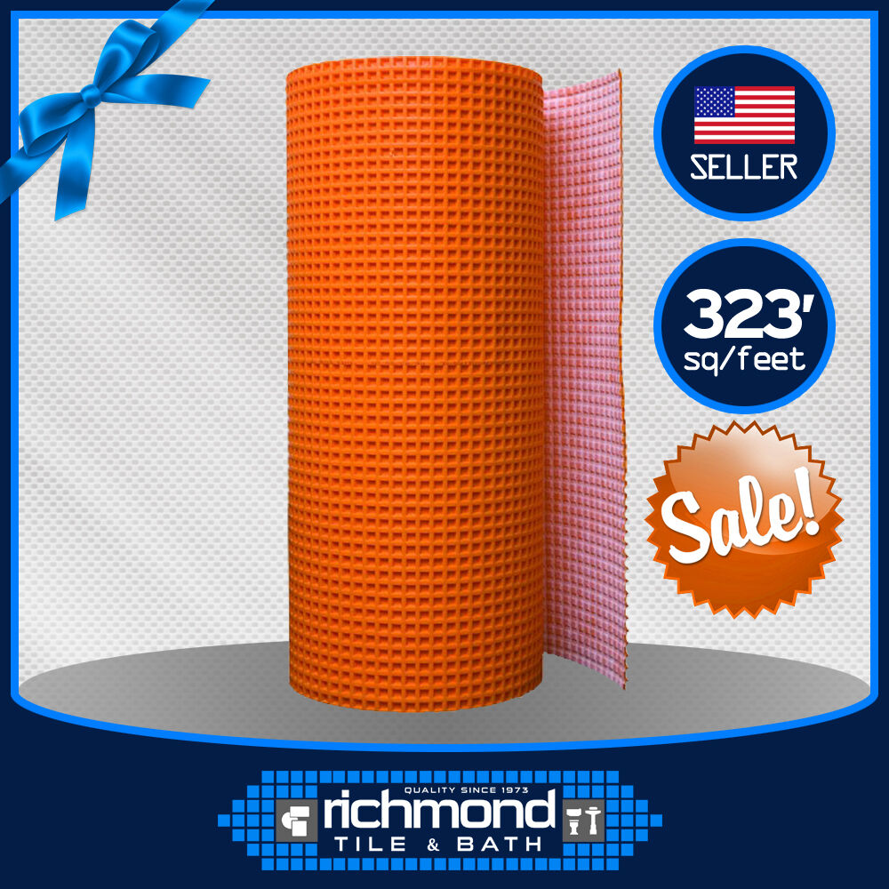 schluter ditra uncoupling membrane mat 323 ft ditra30m full roll ebay. Black Bedroom Furniture Sets. Home Design Ideas