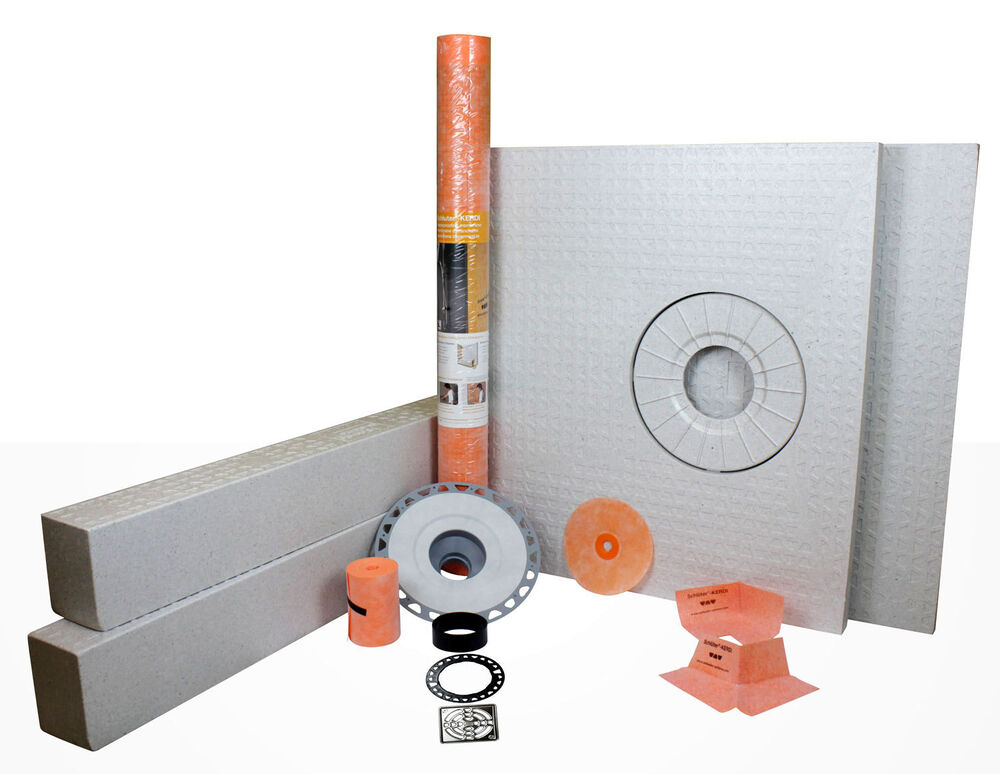 Schluter kerdi shower kit 32 x60 with drain included - Ditra shower system ...