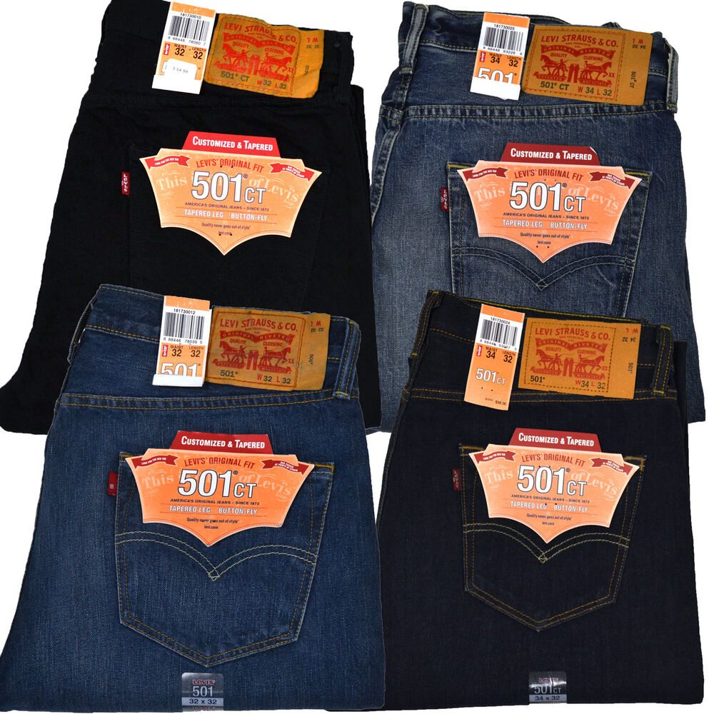 levis 501 ct mens button fly jeans customized and tapered. Black Bedroom Furniture Sets. Home Design Ideas
