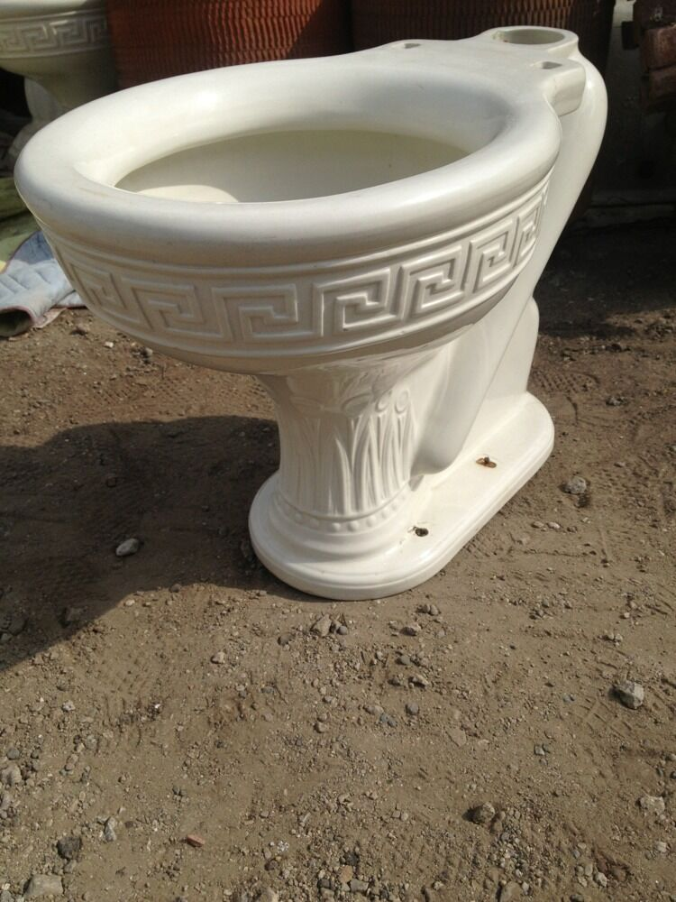 Old Vintage Antique Toilet High Tank Hanes Jones And