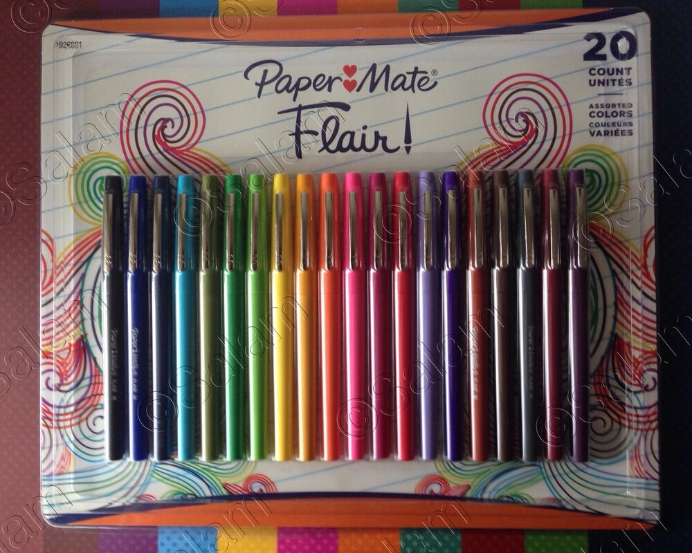 paper mate flair The paper mate flair felt-tip pen is ideal for everyday writing and drawing its  water-based ink resists smearing, blobbing and skipping and won't bleed through .