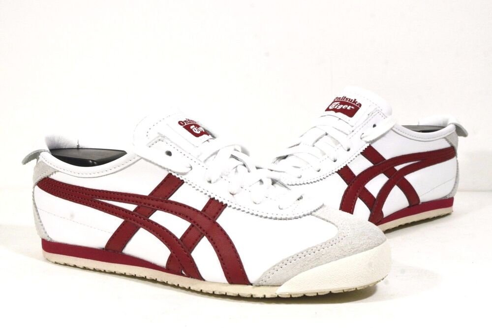 asics onitsuka tiger unisex mexico 66 white burgundy. Black Bedroom Furniture Sets. Home Design Ideas