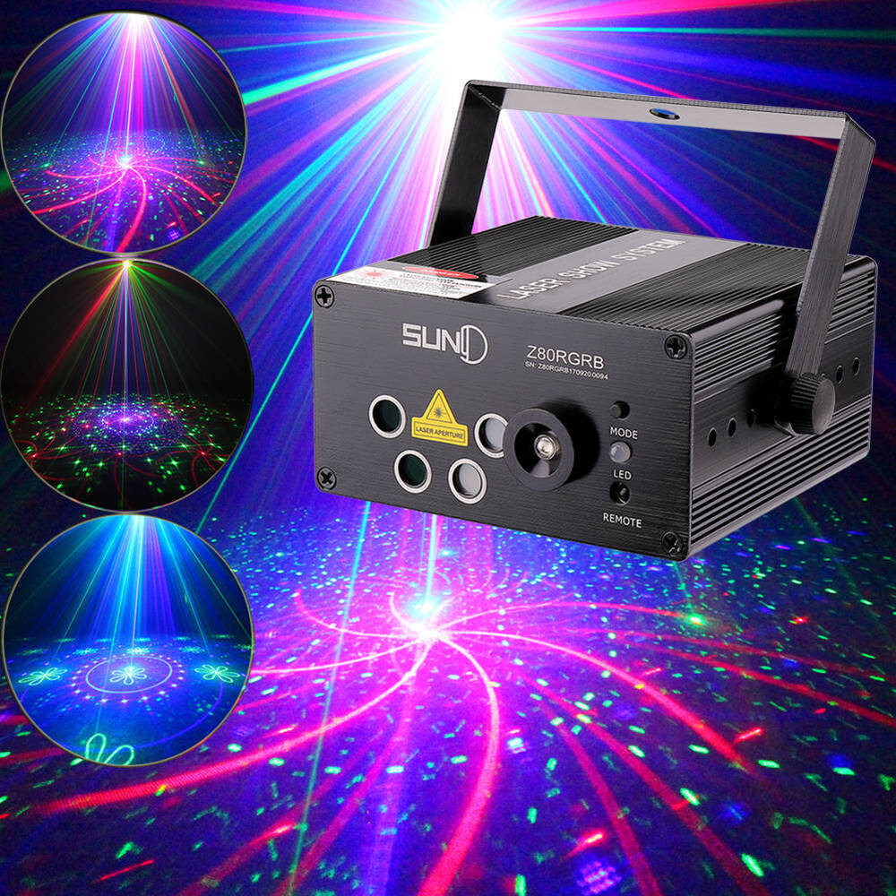 suny 5 lens laser rb gobos blue led projector stage light xmas home family party ebay. Black Bedroom Furniture Sets. Home Design Ideas