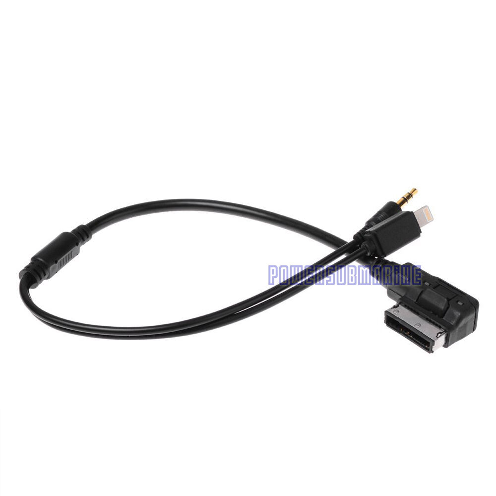 Vw Mdi Ipod Cable Audi Mmi Cable For 4f0051510k: VW Music Audi MDI AMI MMI Interface AUX Lightning Cable To