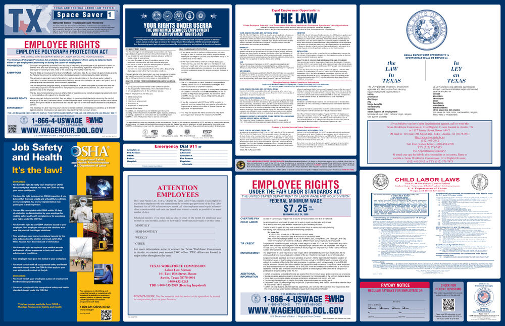2016 state and federal labor law posters osha compliance posters new fashions