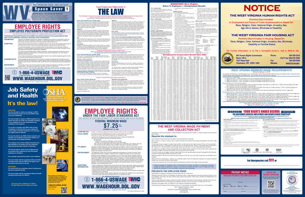 2017 West Virginia State & Federal Labor Law Poster - All ...