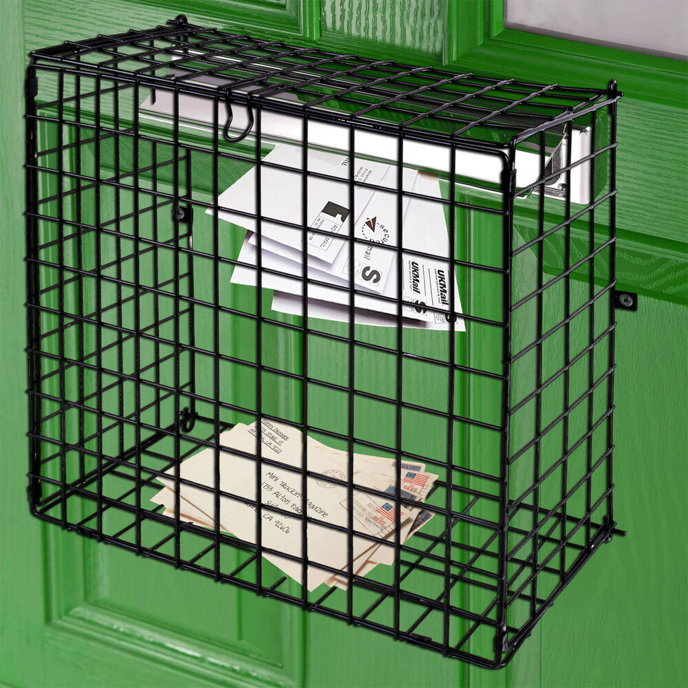 Letterbox Cage Door Mounted Mail Box Letter Guard Basket