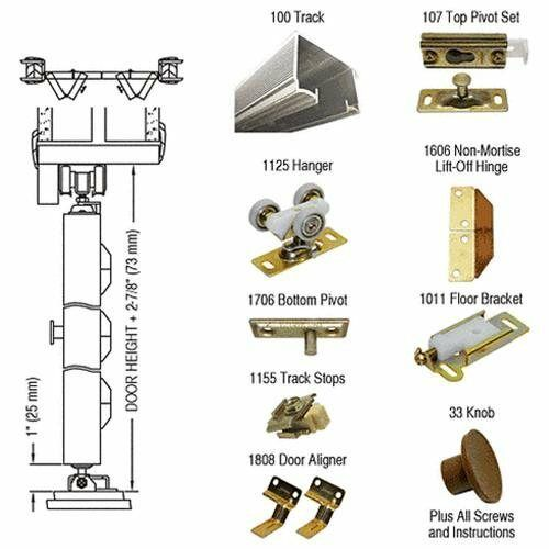 Crl 36 bi fold hardware 2 door set for use with heavy for 1700 series folding door instructions