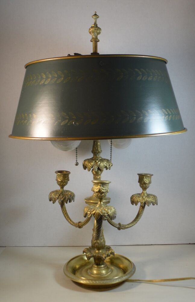 table lamps vintage vintage brass bouillotte table lamp with tole 2651