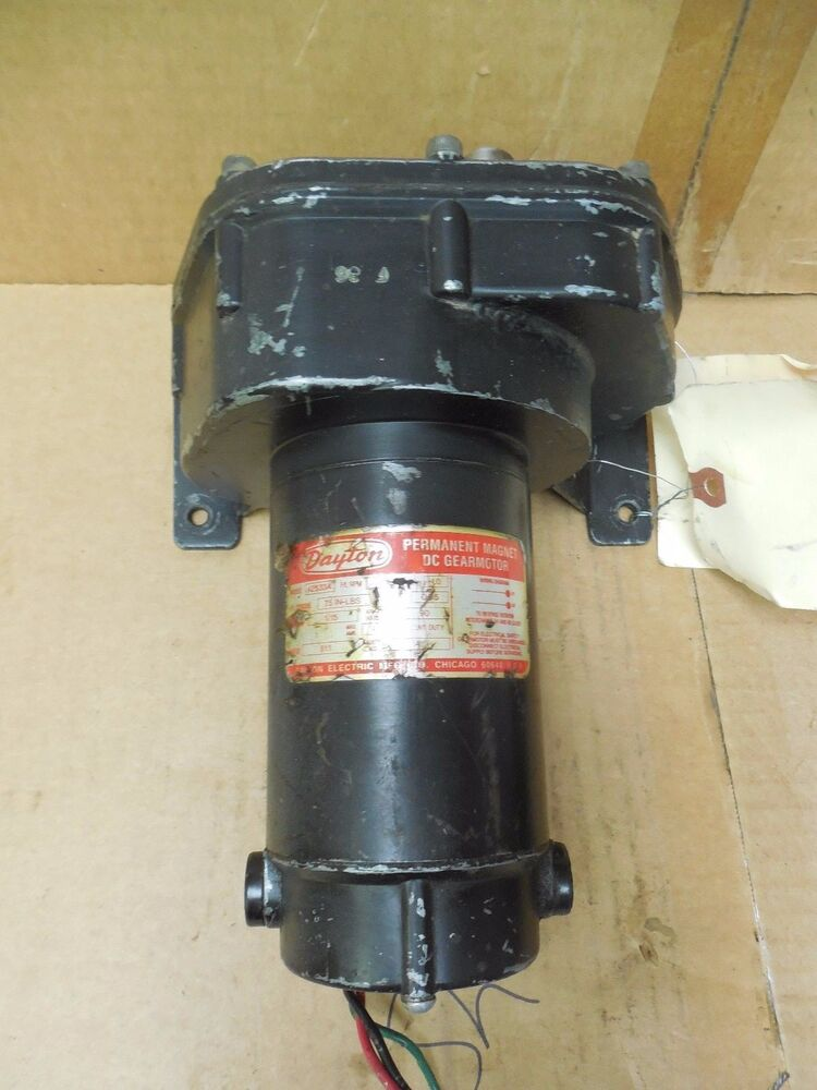 Dayton permanent magnet dc gearmotor 4z533a 1 15hp 1 15 hp for 15 hp dc electric motor