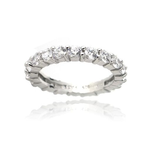 zirconia ice 925 silver eternity band made with swarovski. Black Bedroom Furniture Sets. Home Design Ideas