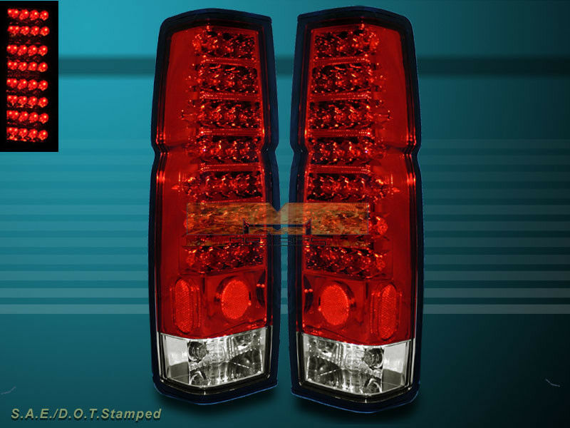 For 1986 1997 Nissan Hardbody Pickup D21 Red Clear Led
